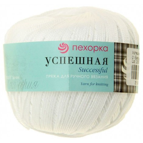 "Yarn ""Pehorka. Successful"" white"